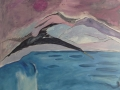 Bird On ', oil on canvas, 92 cm w x 76 cm h