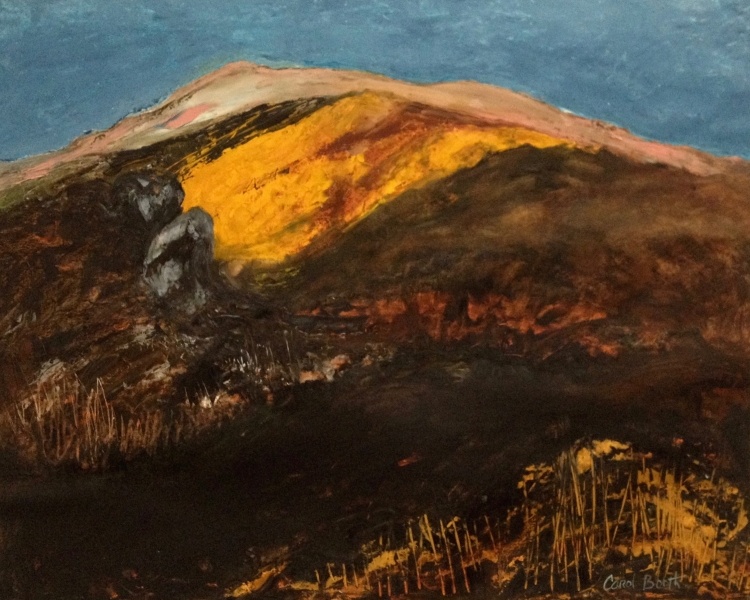 'West Wicklow'.  61 cm w x 49cm h oil on Fabriano