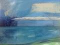 ' Dun laoghaire pier with Alexandra, oil on canvas, 61 cm w x 49 cm h