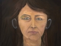 ' Girl without a hat ', oil on canvas board, 61 cm w x 51 cm